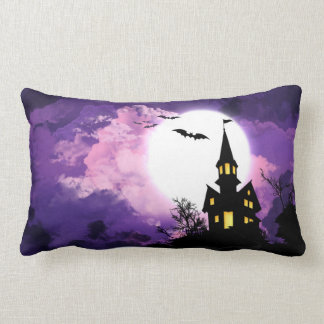 Haunted Scary Night Lumbar Cushion