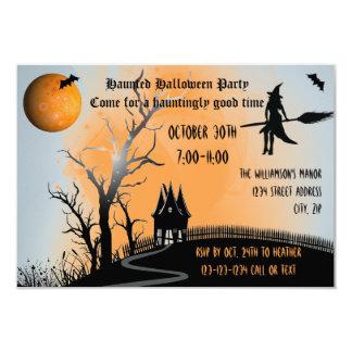Haunted Scene - 3x5 Halloween Party Invite