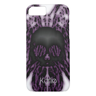 Haunted Skull, Add Name Phone Case