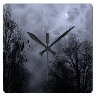 Haunted Sky Blue Mist Wall Clock