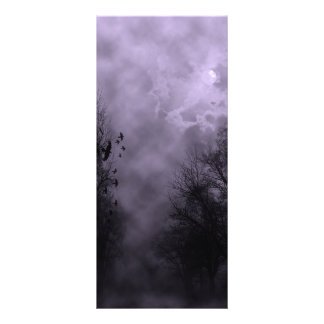 Haunted Sky Purple Mist Personalized Rack Card
