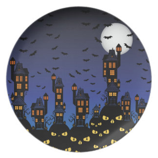 Haunted town plate