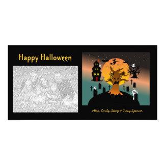 Haunted Tree Halloween Photo Cards