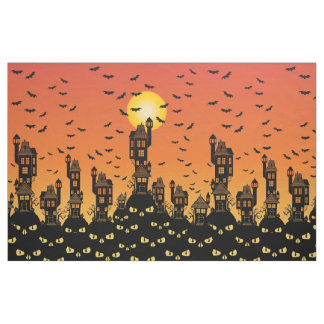 Haunted Village Fabric