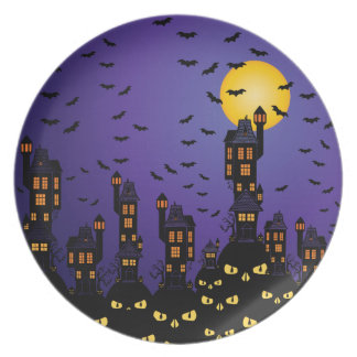 Haunted Village Plate