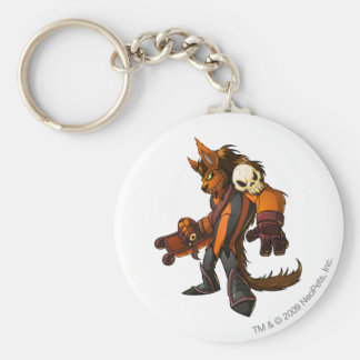 Haunted Woods Team Captain 2 Basic Round Button Key Ring