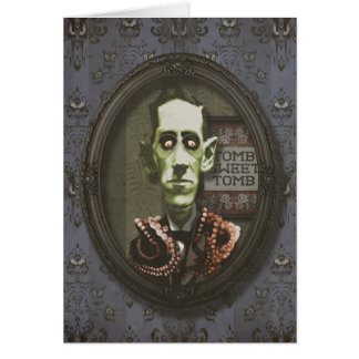 Haunted Zombie HP Lovecraft Greeting Card