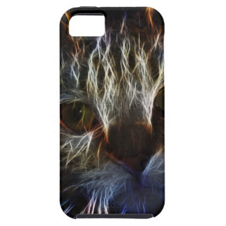 Haunting cat face art, made of light - gothic iPhone 5 cover