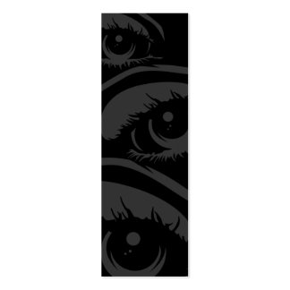 Haunting Eyes Bookmark Business Card