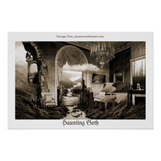 Haunting Goth or Conception of Gothic music lyrics Poster