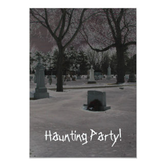 Haunting Party! 13 Cm X 18 Cm Invitation Card