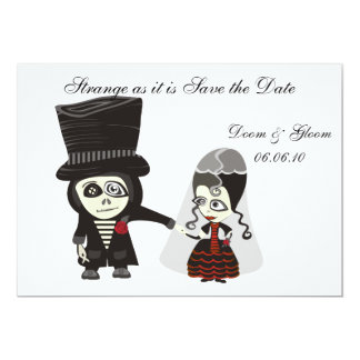 Haunting Save the Date 13 Cm X 18 Cm Invitation Card