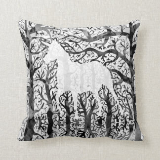 Haunting Unicorn Throw Pillow
