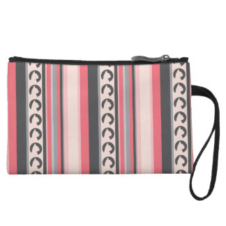 Hauspanther Mini Clutch in Rose Stripes Wristlet Clutches