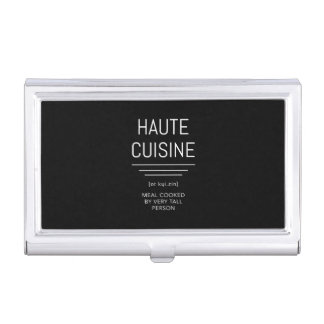 Haute Cuisine Funny French Chef Business Card Holder