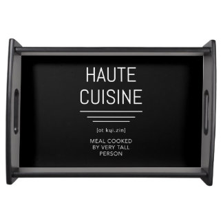Haute Cuisine Funny French Chef Serving Tray