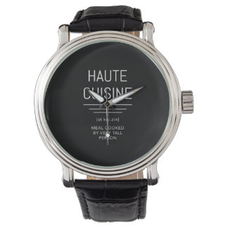 Haute Cuisine Funny French Chef Wrist Watches