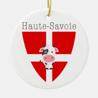 Haute-Savoie Cow Circle Dble-sided Ornament