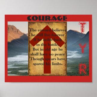 Havamal Courage Poster