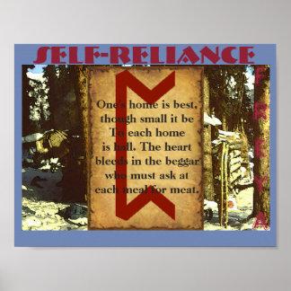 Havamal Self-Reliance Poster