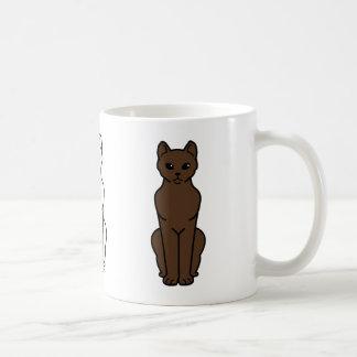 Havana Brown Cat Cartoon Coffee Mug