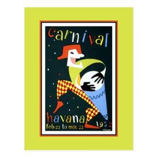 Havana Carnival 1952 Postcard