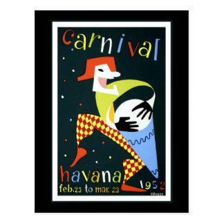 Havana Carnival Vintage Travel Postcard