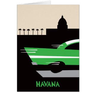 Havana Classic Car Greeting Card
