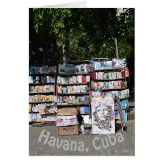 Havana Cuba Bookstall Card