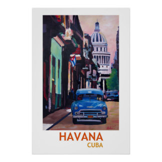 Havana Cuba  - Retro Style Poster II