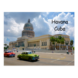 Havana, Cuba, The Capitol Building, Habana Capital Postcard