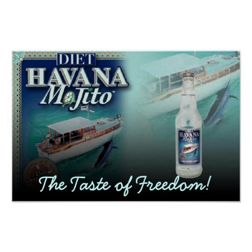 Havana Mojito Diet The Taste of Freedom Canvas Posters