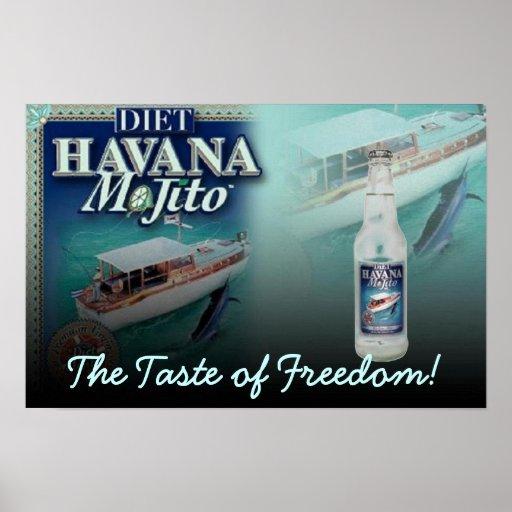 HAVANA MOJITO Diet The Taste of Freedom Large Prin Poster