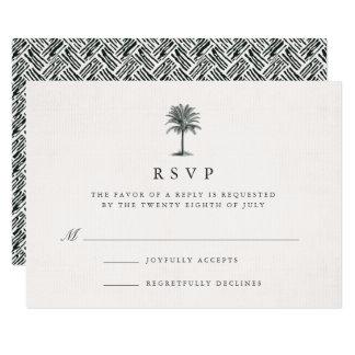 Havana Palm RSVP Card
