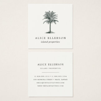 Havana Palm Square Business Card