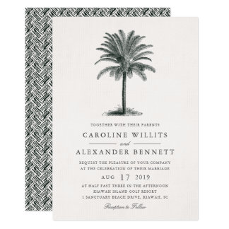 Havana Palm Wedding Invitation
