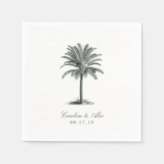 Havana Palm Wedding Paper Napkin