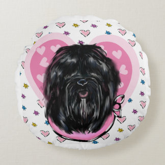 Havana Silk Dog Mothers Day Round Cushion