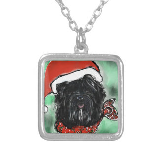 Havana Silk Dog Silver Plated Necklace