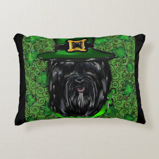 Havana Silk Dog St. Patty Decorative Cushion
