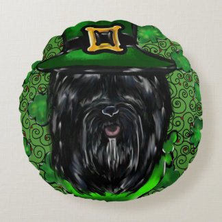 Havana Silk Dog St. Patty Round Cushion
