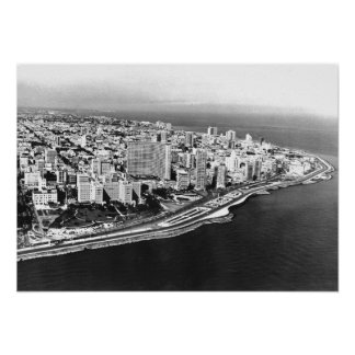 Havana Skyline 1957 Poster