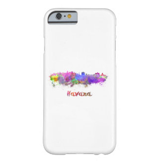Havana skyline in watercolor barely there iPhone 6 case