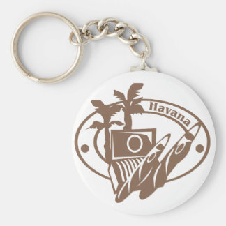 Havana Stamp Basic Round Button Key Ring