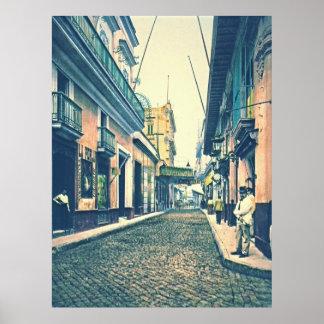 Havana Street Cuba 1899 Print