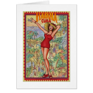 Havana woman: Vintage Cuban Havana Card