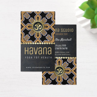 Havana Yoga Studio Black Gold Business Card