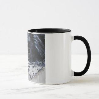 havanese black and white mug