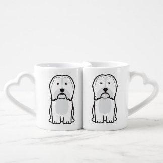 Havanese Dog Cartoon Coffee Mug Set