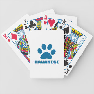 HAVANESE DOG DESIGNS BICYCLE PLAYING CARDS